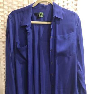 Jcrew royal blue bottom down shirt size 6